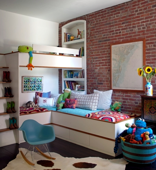 Select children's decor and provide a warm