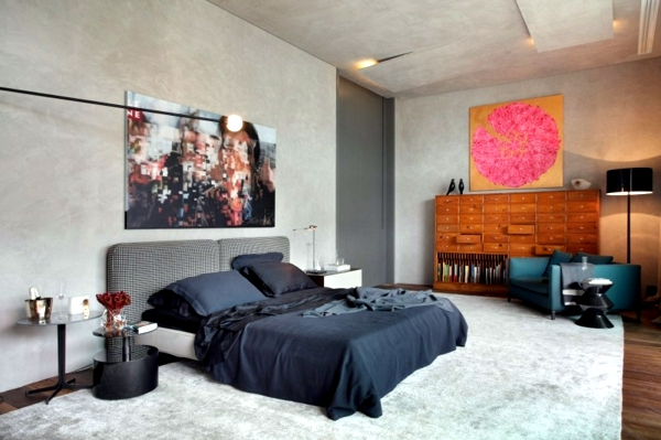 ceiling with recessed lighting design as an accent - Apartment in Brazil