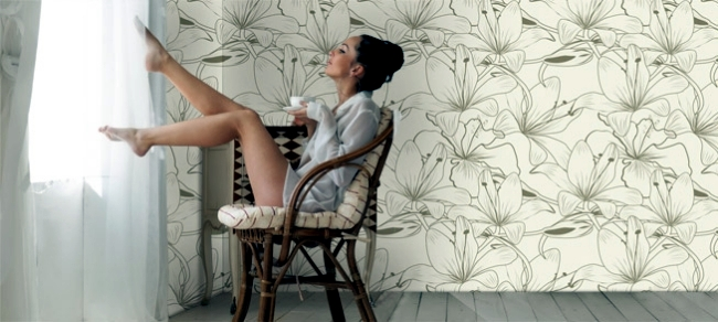 Rice paper wallpaper design with energizing effect Artmuro