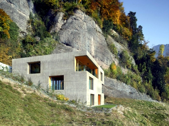 Cubic House In Switzerland With Panoramic Views Interior
