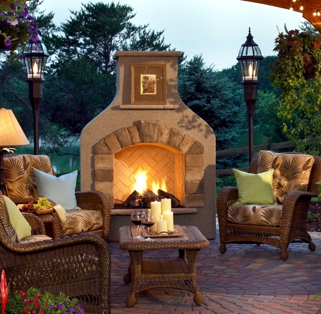 Fireplace In The Garden Construction 48 Ideas For A Refined Cool Garden Fireplace Design Image