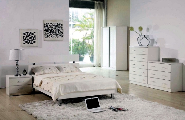 Bedroom set completely blank - find peace and relaxation