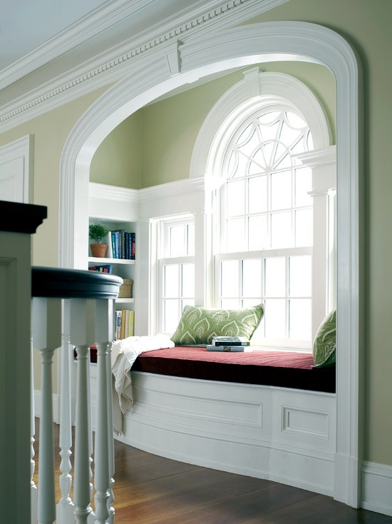 Comfortable window seat set light reading corner Window seat reading nook