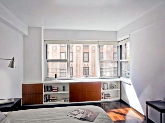 Comfortable window seat - set light reading corner