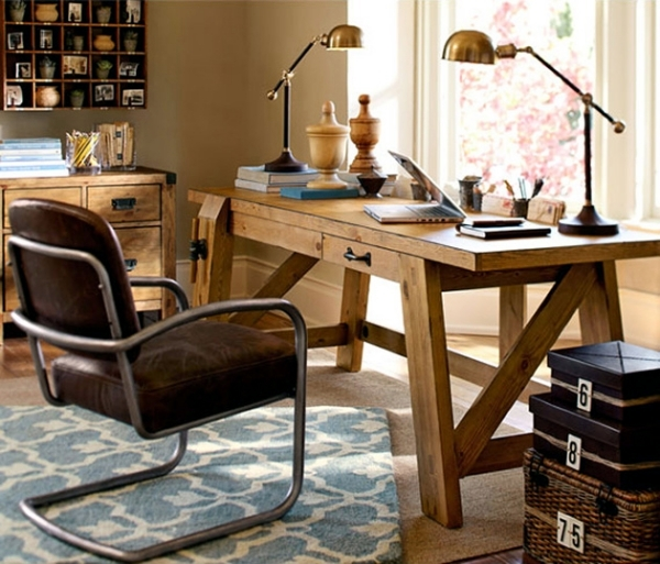 Office To Complete Any Home Office Rustic Wood Interior