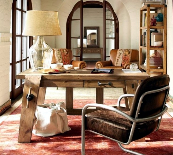 Office to complete any home office rustic wood