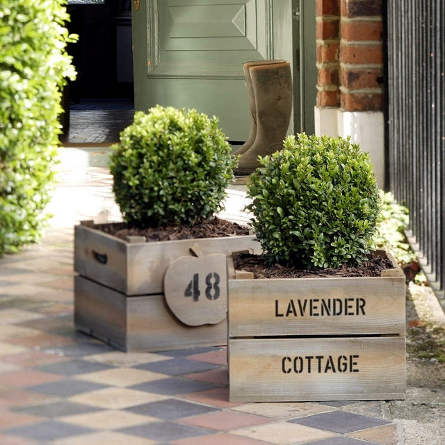 Build wood planter same - 22 Ideas to upcycling wine boxes