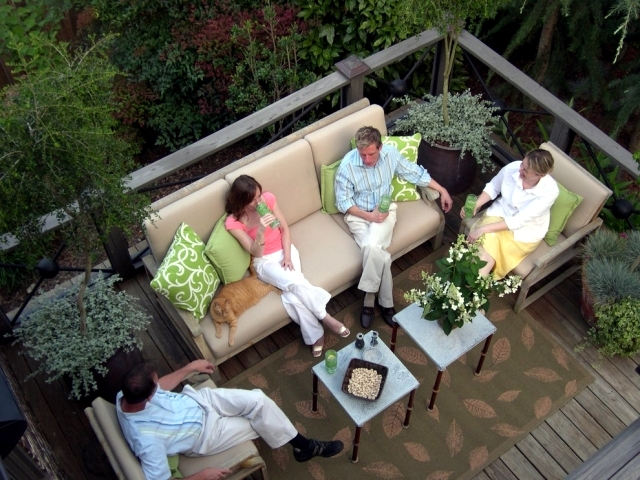 Exterior Living Room Furniture - How to convert a room Außenberech