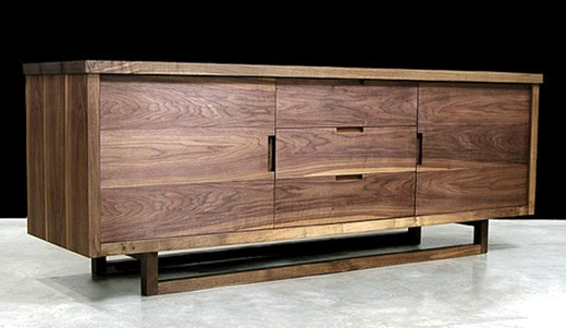 Modern living room furniture in solid wood and exotic colored