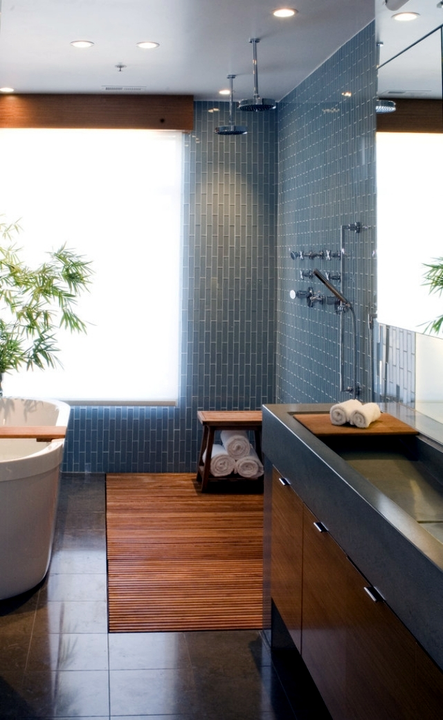 Useful tips for bathroom design harmony in Asian style ...