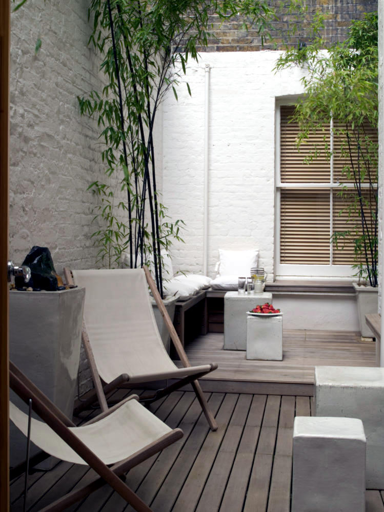 Remarkable White Lounge Chairs And Stool In Modern Minimalist Terrace Onthecornerstone Fun Painted Chair Ideas Images Onthecornerstoneorg