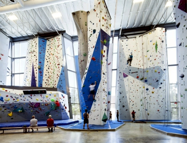 Modern indoor climbing center in Canada offers fun for all the climbing