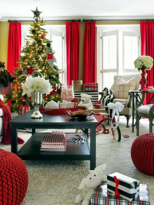 30 Ideas for Christmas - traditional arrangements for home