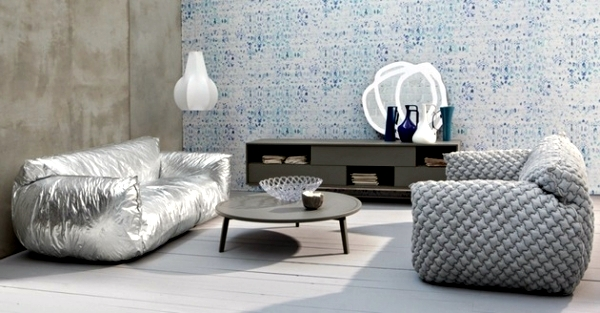 Modern sofa design nuvola in bright colors by paola navone ...