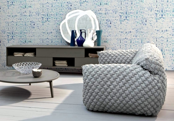 Modern Sofa Design Nuvola in bright colors by Paola Navone