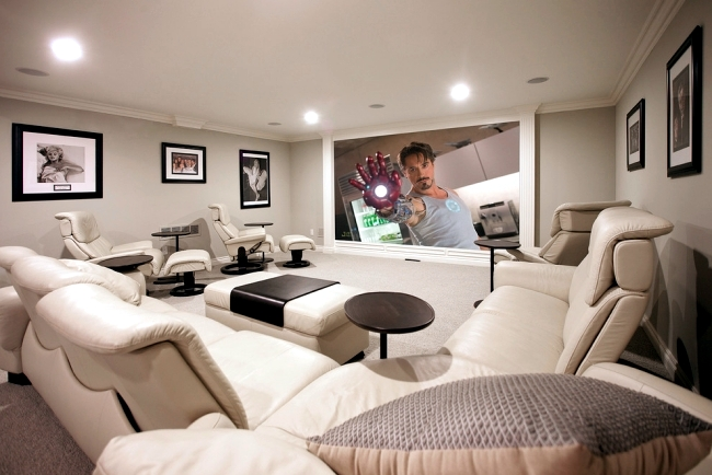 Ultra Modern Home Theater System. Interior Design