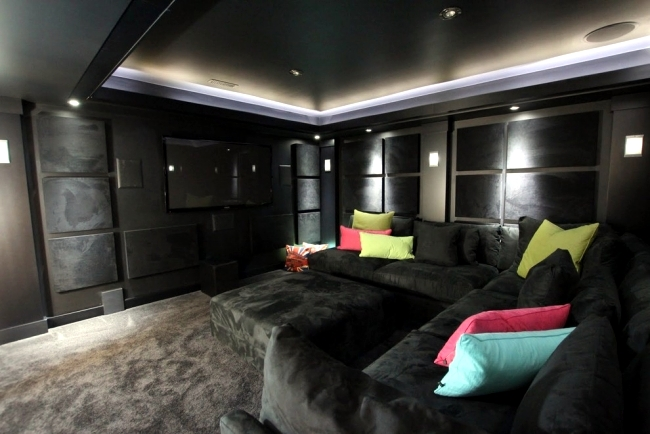 Implementation of home theater ideas and tips for better - Interior design for home theatre ...