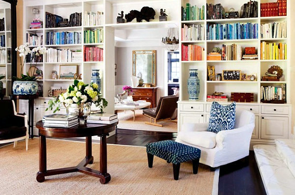 Organize And Focus On Internal Library Wall Shelf In The Living Room Part 77