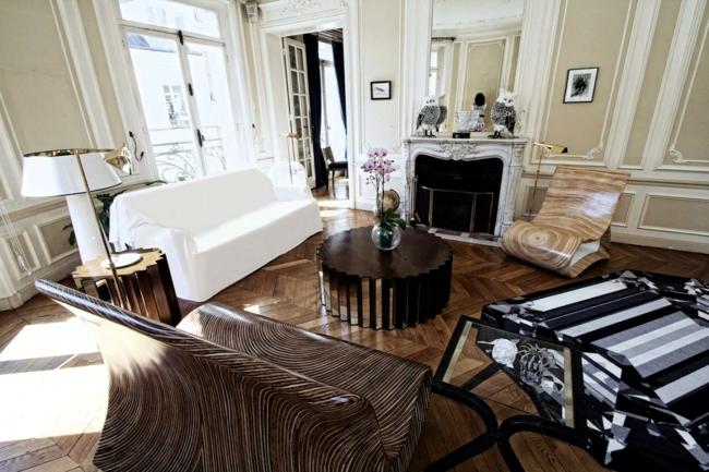 Wooden chair brings exotic faraway islands