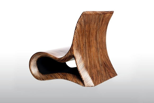 Wooden chair brings exotic faraway islands