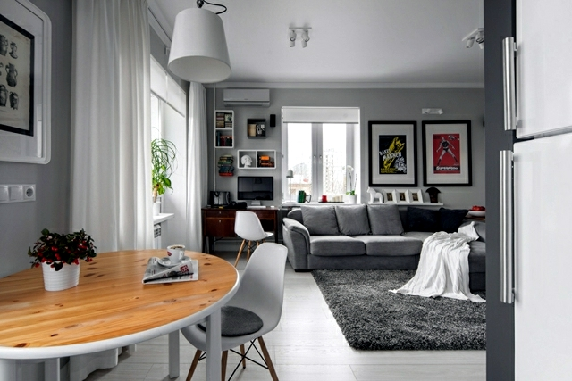 Small apartment in a scandinavian style of life and for Apartment decoration photos