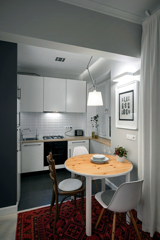 Small apartment in a Scandinavian style of life and decoration