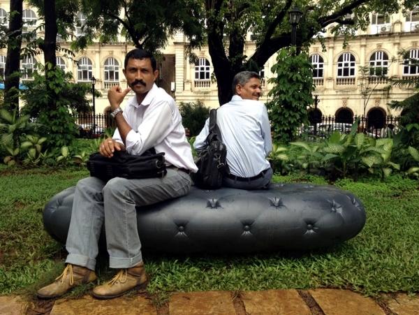 Innovative designers Bank absorbs rainwater