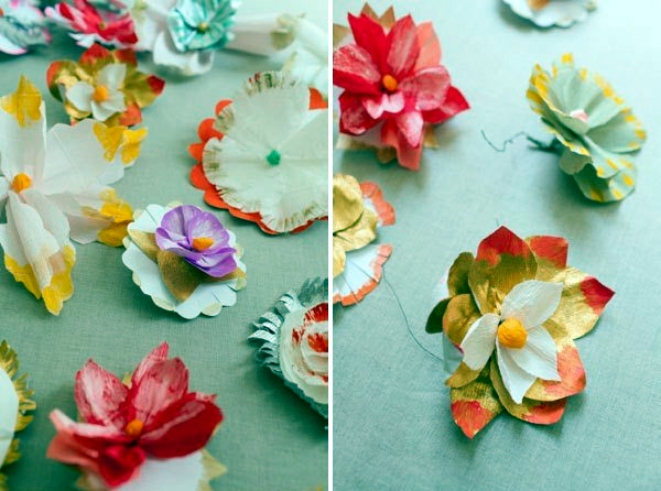 Flowers fancy craft paper and paint tutorial interior design paper flower crafts materials needed do it yourself mightylinksfo