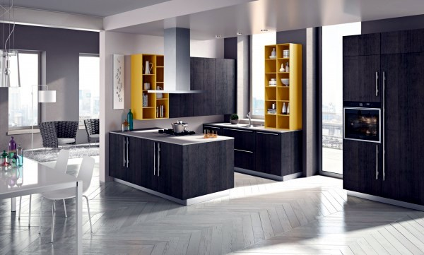 Snaidero focuses not only on the quality of materials and finishes as well as interesting shapes anyone can easily see the island ola kitchen that