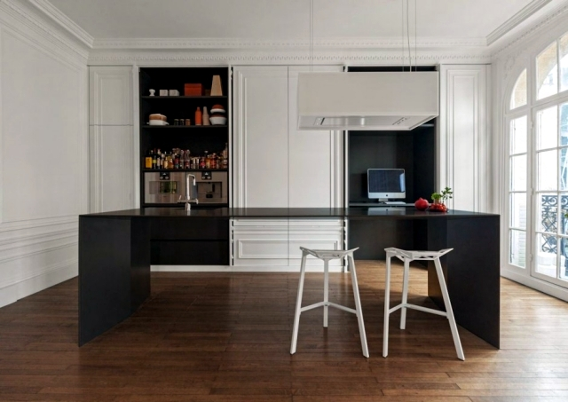 Modern kitchen hidden in the closet i29 Design Studio