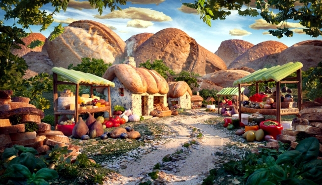 """Food Landscapes"" by Carl Warner - edible landscapes food"