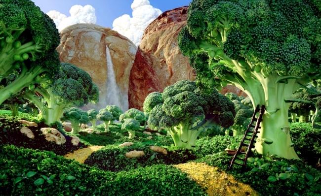 """""""Food Landscapes"""" by Carl Warner - edible landscapes food"""