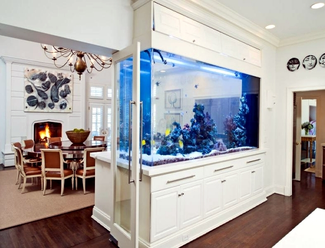 100 ideas integrate aquarium designs in the wall or in the living rh ofdesign net