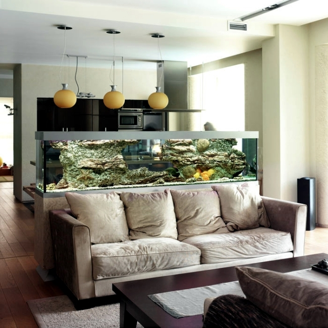 Aquarium Design For Living Room To Bring A Lively Beautiful Look