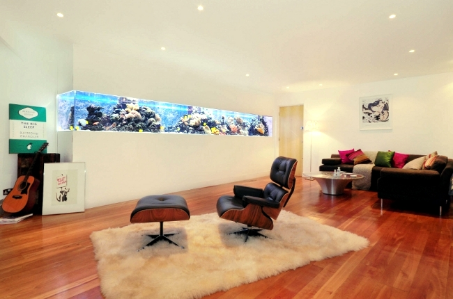 Modern living room interior designs home interior design - 100 Ideas Integrate Aquarium Designs In The Wall Or In The