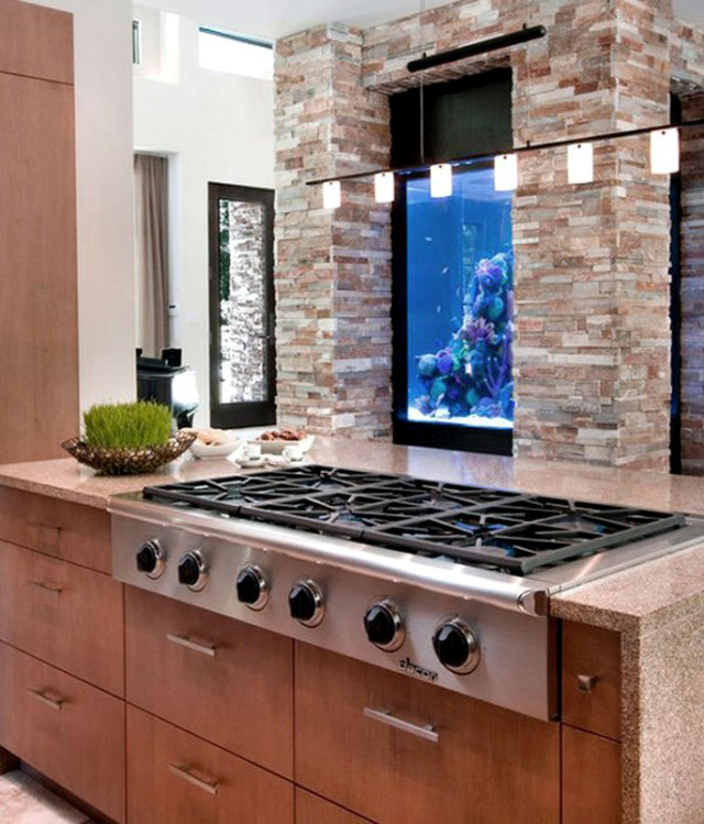 100 ideas integrate aquarium designs in the wall or in the for Fish house interior designs