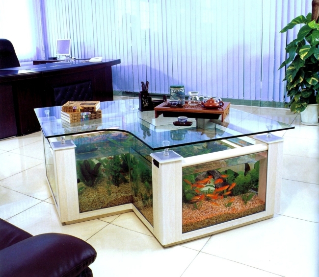 Elegant 100 Ideas Integrate Aquarium Designs In The Wall Or In The Living Room