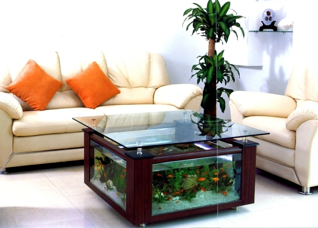 100 ideas integrate aquarium designs in the wall or in the living room