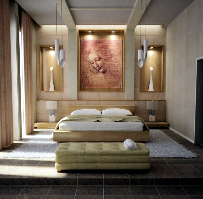 100 interior design ideas for the bedroom in different styles ...