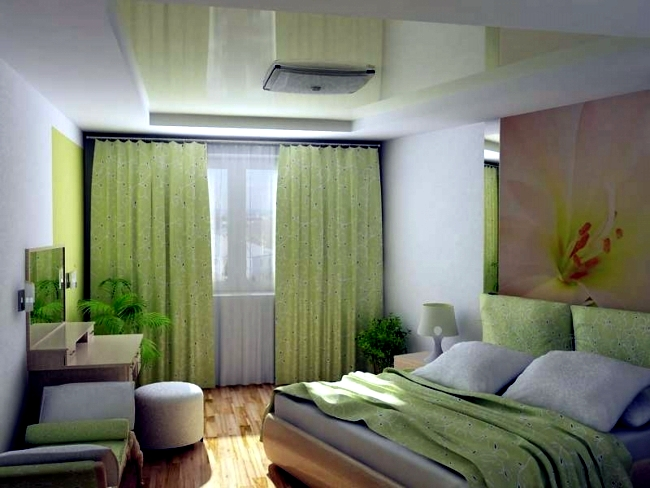 Дизайн интерьера спальни-комнаты