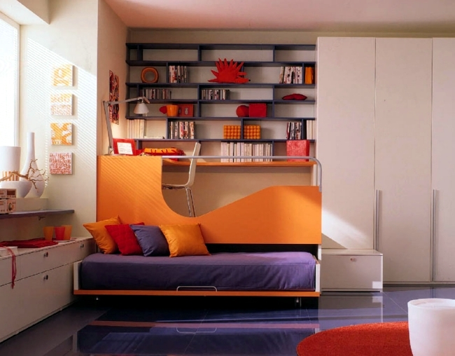 100 interior design ideas for kids room with bright colors for girls and boys interior design - Delicate apartment interior design with pale hues and movable walls ...