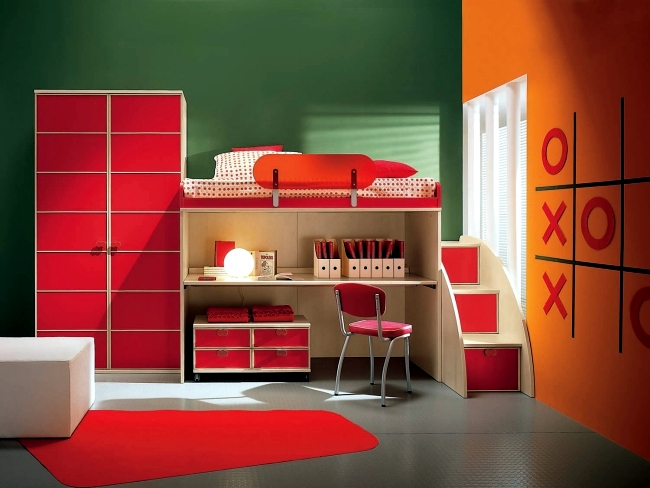 Ofdesign : red kids room - amorenlinea.org