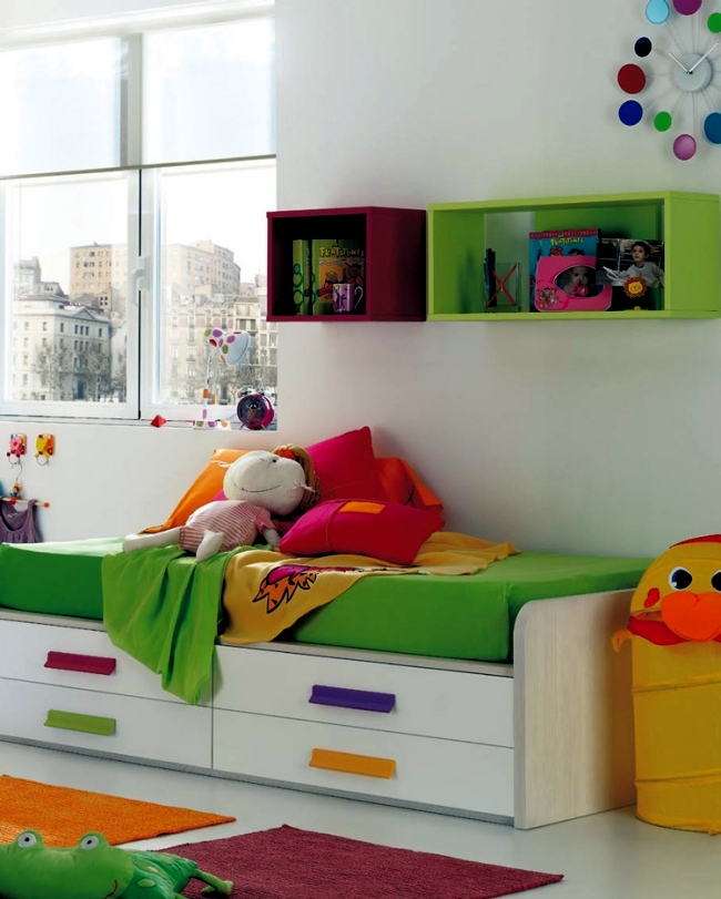 Kids Rooms Climbing Walls And Contemporary Schemes: 100 Interior Design Ideas For Kids Room With Bright Colors