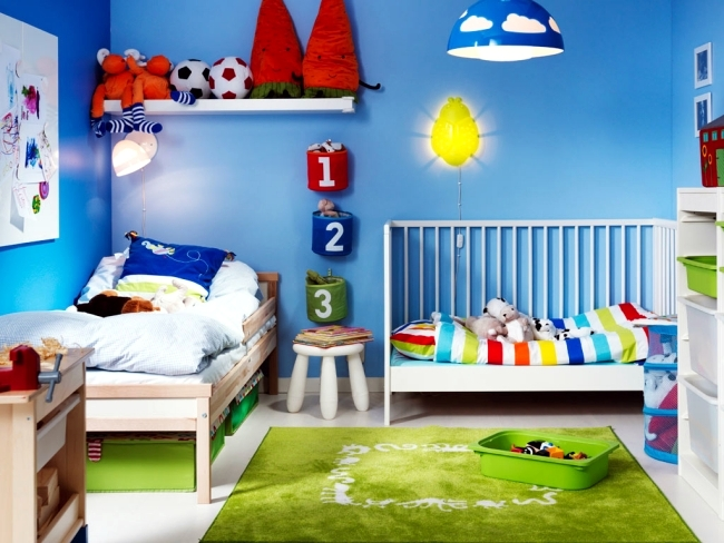 100 interior design ideas for kids room with bright colors - Colorful room for kids ...