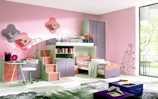 100 interior design ideas for kids room with bright colors for girls ...