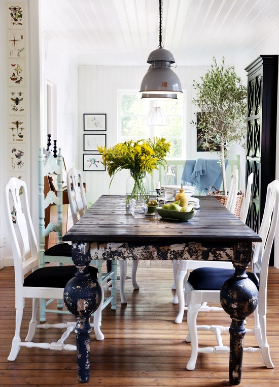 30 Ways To Create A Trendy Industrial Dining Room: 15 Ideas For Dining Room Interior Design In Rustic Chic