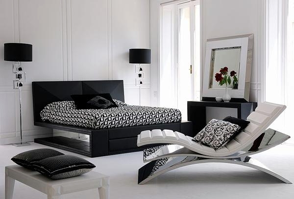 modern bedroom design with black and white | 15 modern bedroom designs in black and white color palette ...