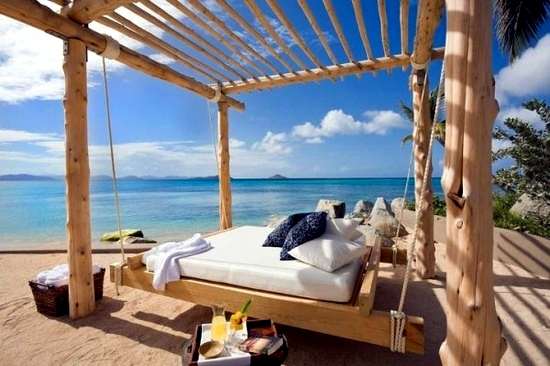 16 beautiful bed design ideas for hanging on the terrace or in the ...