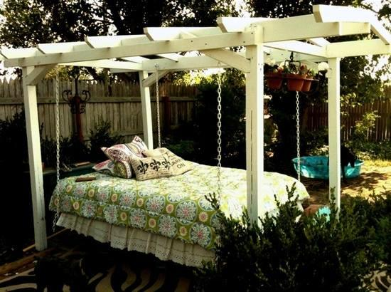 16 Beautiful Bed Design Ideas For Hanging On The Terrace