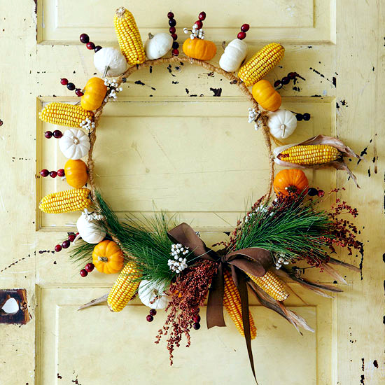17 Fall wreath ideas for DIY on with treasures of Nature